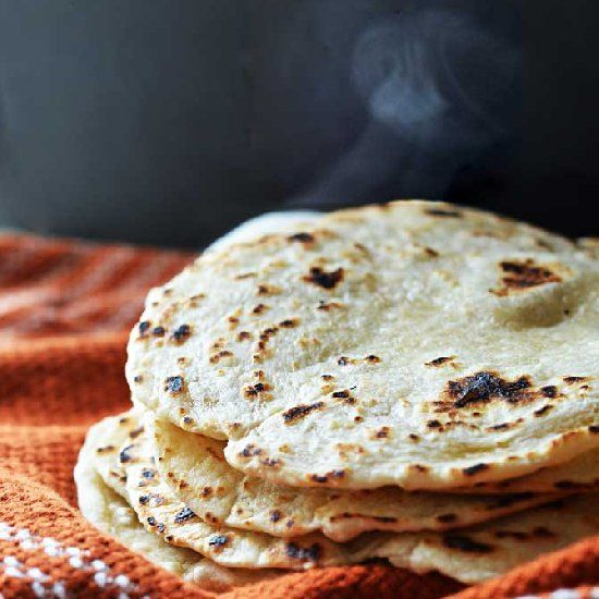 Homemade Flour Tortillas. I'm never using store bought again. These are so easy and SO GOOD.