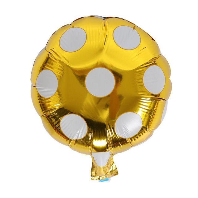 10 дюймов гелий шар точка большой алюминиевой фольги шары надувные подарок детский день рождения аэростат партии украшение шар