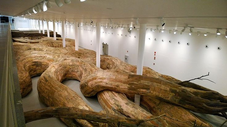 Henrique Oliveira Roots Installs A Giant Snaking Installation in Sao Paulo | HUH.