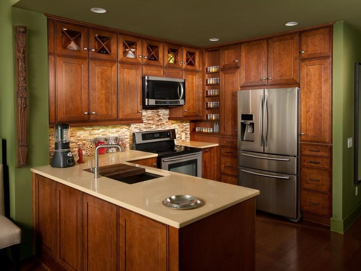 Pictures of Small Kitchen Design Ideas From HGTV   Kitchen Ideas & Design with Cabinets, Islands, Backsplashes   HGTV