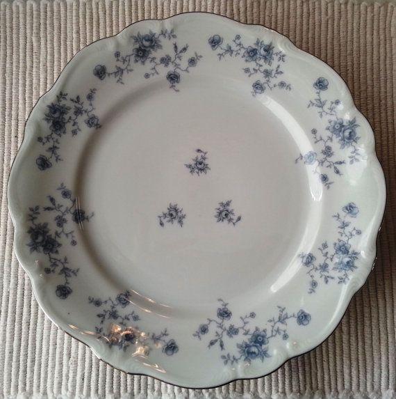 Johann Haviland China Blue Garland ROSES Bavaria Germany Set of 4 Dinner Plates & 85 best China patterns ...so many so beautiful! images on Pinterest ...