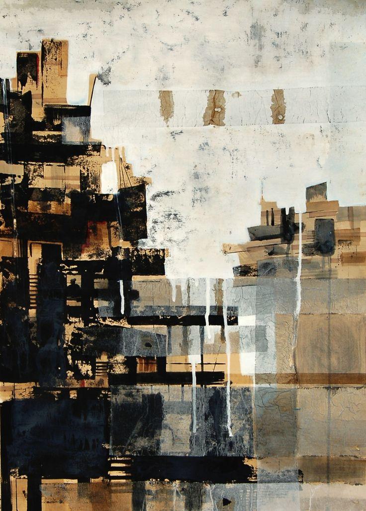 Alessandro Troso, Caja de agua n 2 50x70 mixed media on paper 2010