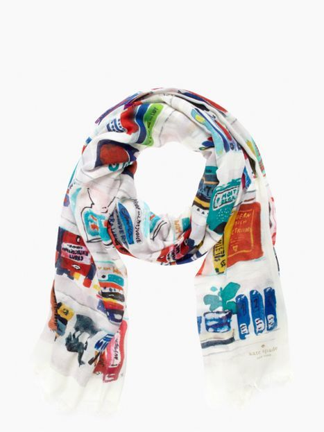 kate spade like a book scarf | Fashion for Book Nerds: Kate Spade's Library-Themed Accessories