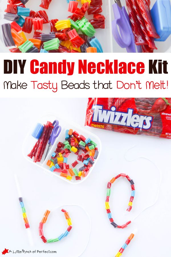 DIY Candy Necklace Kits for Kids | A Little Pinch of Perfect