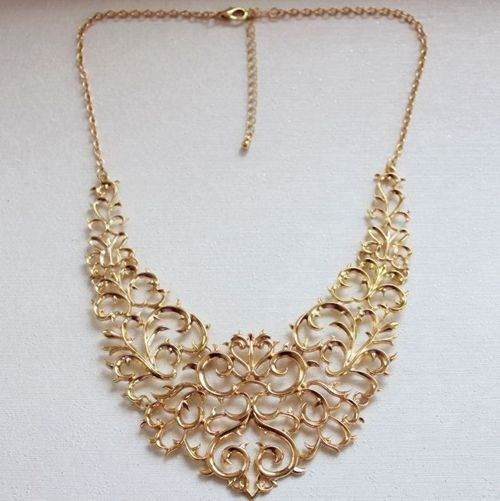 fashion hollow short bib necklace [wenbo-ev-12] - $6.99 : Fashion jewelry promotion store,Supply all kinds of cheap fashion jewelry ,shop fashion jewelry at Costwe.com