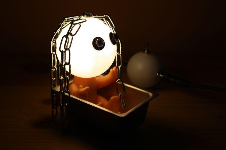 Lamp, Little girl, mood lighting, cute table lamp, Led lighting, desk lamp, handmade... Punk Trek www.punktrek.com www.facebook.com/PunkTrek
