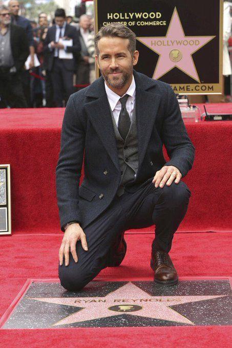 Ryan Reynolds en el paseo de las estrellas