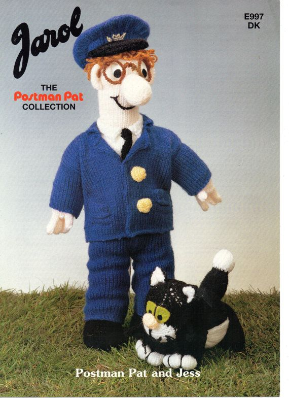 Easy Knitted Headband Free Pattern : 1980s VINTAGE Postman Pat and Jess Dolls Knitting by Hobohooks, ?1.20 ...