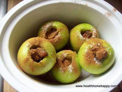 Cockpit baked apples