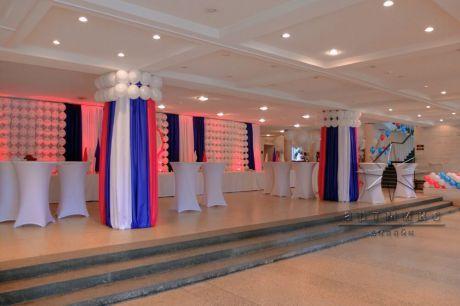 Оформление шарами, баннерами и тканями с подсветкой на юбилей предприятия ЦТСС • от студии Артмикс