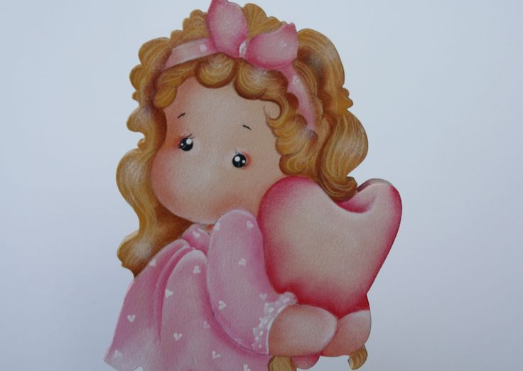 Linda peça em mdf, pintada à mão, motivo menina abraçando um coração. <br>Ideal na decoração do quarto de menina. É também um presente original. <br>Faço na cor de sua preferência.