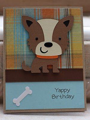 Yappy Birthday card made with Cricut