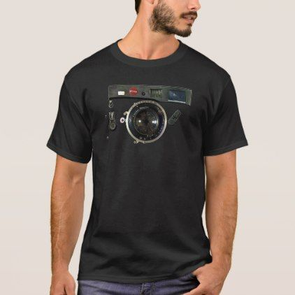 Classic Retro Old Vintage Army looks Rusty Camera T-Shirt - photographer gifts business diy cyo personalize unique