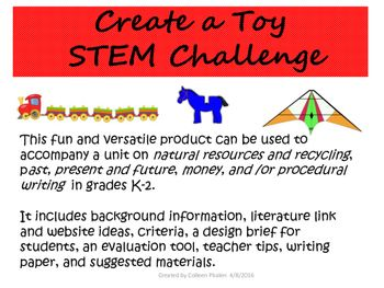 Earth Day Recycled Toy STEM Challenge by Colleen Phalen   TpT