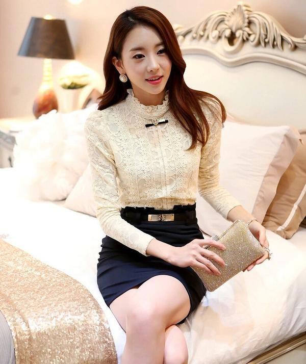 2019 New Hot Women Tops Women Clothing Fashion Blusas Femininas Shirts Fleece Women Crochet Blouse Lace Shirt Women's Clothing