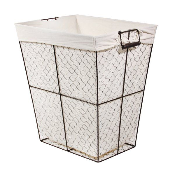This Tapered Wire Laundry Hamper Is Perfect For Your Living Spaces