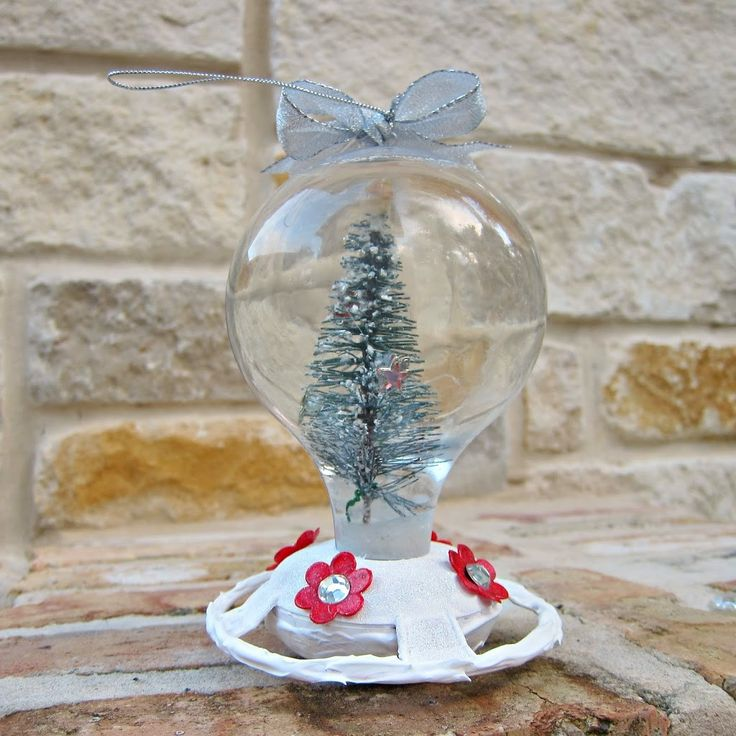 I bought a humming bird feeder at Dollar Tree this summer, and as I looked at it on my counter it made me think of a snow globe. When I saw some adorable miniature trees at Dollar Tree later, my idea came together. This fun, pretty snow globe is easy and inexpensive to make, and …