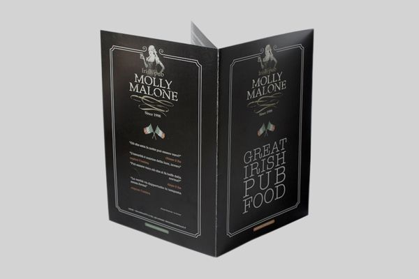 """Molly Malone"" Menu design on Behance"