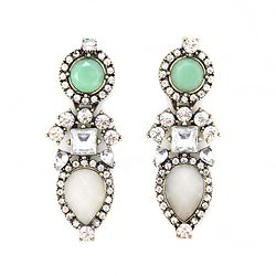 Desinger Green Crystal Earrings