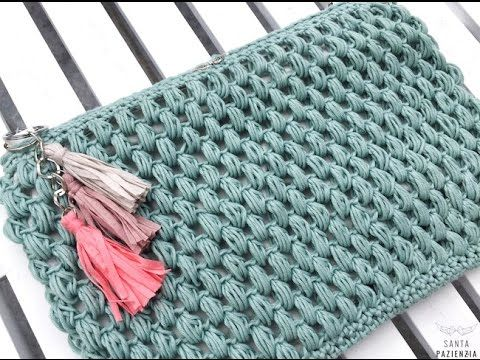Clutch de trapillo y terciopelo - YouTube
