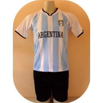 "ARGENTINA SOCCER KIDS SETS JERSEY & SHORT SIZE 14.NEW.STOCK LIQUIDATION by MARIN. $9.95. SOCCER  KIDS SET. NEW. JERSEY & SHORT. UNIFORM. GREAT QUALITY. NEW ARGENTINA SOCCER KIDS SET SIZE 14  A MUST HAVE FOR A REAL SOCCER FAN!   BRAND NEW IN BAG   CHART OF SIZES    SIZE 14 FOR 11-12 YEARS 18"" ARMPIT TO ARMPIT AND 24"" NECK TO BOTTOM    GORGEOUS SET.EMBROIDERY ARGENTINA LOGO.  100% POLYESTER.GREAT QUALITY.  FAST SHIPPING VIA USPS 2-4 WORKING DAYS ANYWHERE IN USA."