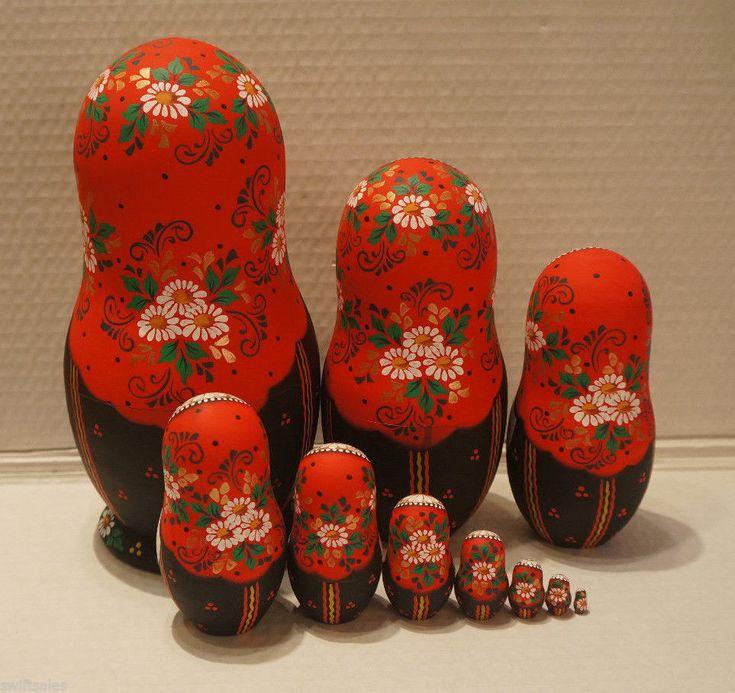VERY BIG Russian Matryoshka - Wooden Nesting Dolls - 10 Pieces Unique Coloring | Spielzeug, Puppen & Zubehör, Holzpuppen | eBay!