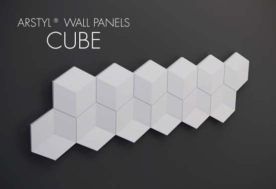 ARSTYL® Wall Panels CUBE / H 350 x W 1135 mm / Tmax 24 mm