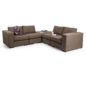 Abingdon Modular Corner Sofa Group in tawny brown | made.com