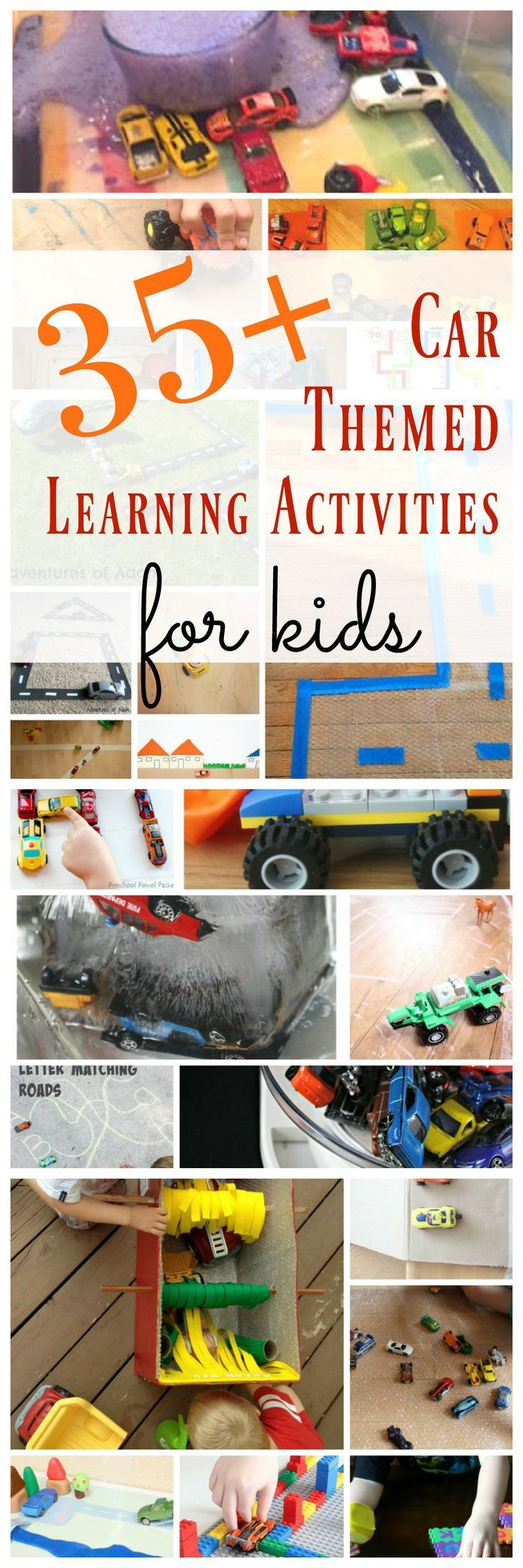 These car themed learning activities for kids will get your little ones loving learning through play! Check out more activity posts from #powerofplay52