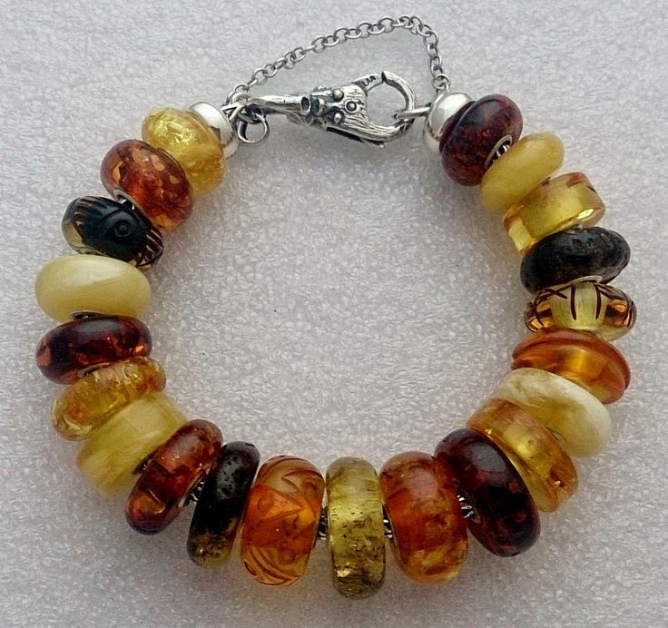 Curling Stones for Lego People: All My Amber Trollbeads