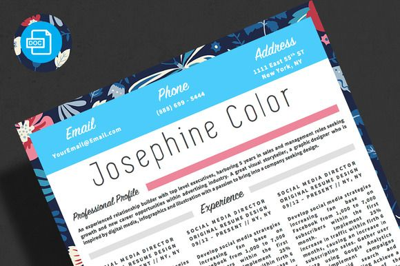 Resume with colorful ornamet Resume architecture, Unique resume - digital media director resume
