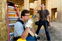 Protect yourself from heat stress by drinking plenty of water and taking breaks if working in the heat.