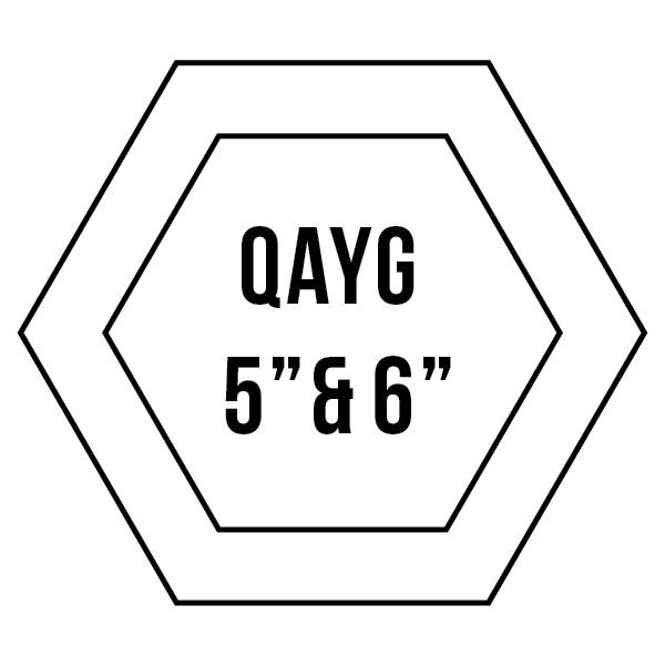 """5"""" & 6"""" Quilt-As-You-Go Hexagons: Patchwork With Busyfingers"""