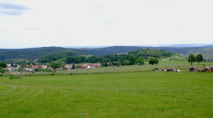 Pohled na oppidum Třísov.