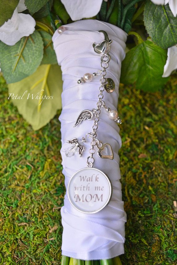 bridal bouquet photo charm wedding bouquet by petalwhispers