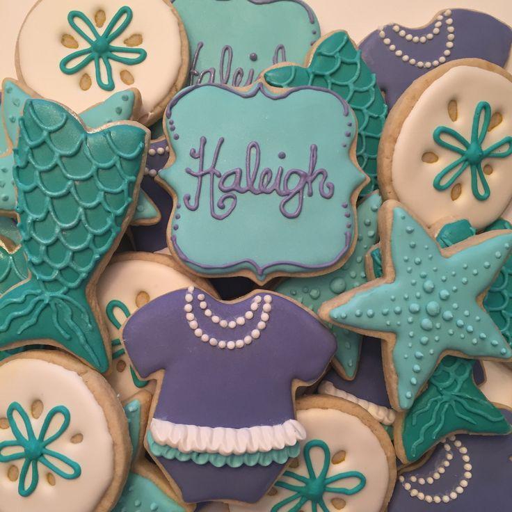 Mermaid Baby Shower Cookies