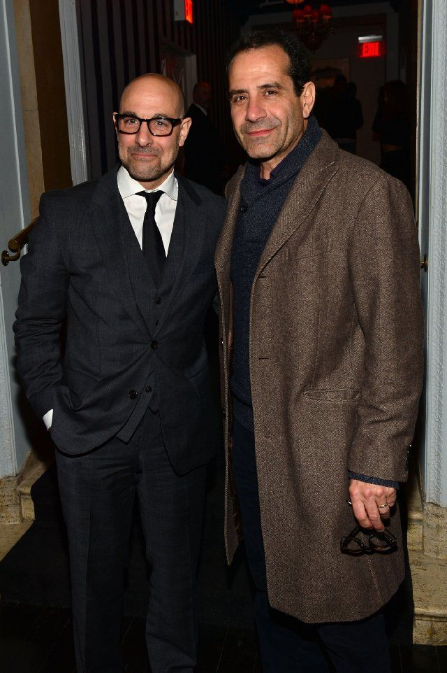 "Tony Shalhoub and Stanley Tucci.  In my book perfect casting when Stanley Tucci played an actor preparing to portray Mr. Monk on the season 5 opener ""Mr. Monk and the Actor.""    excellent episode!"