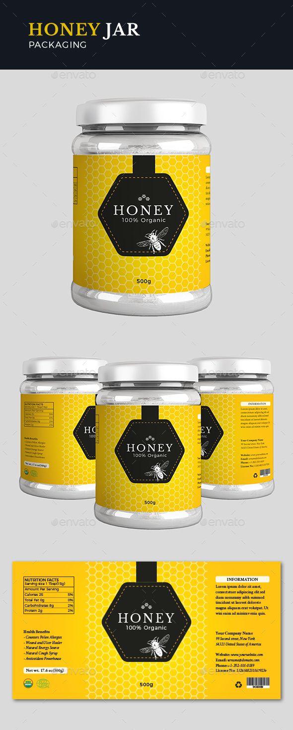 Honey Label Design Template Vector EPS, AI Illustrator | Premium