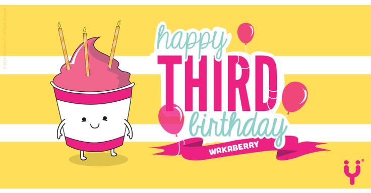 Wakaberry Turns 3 today and we are thanking everyone behind our success!