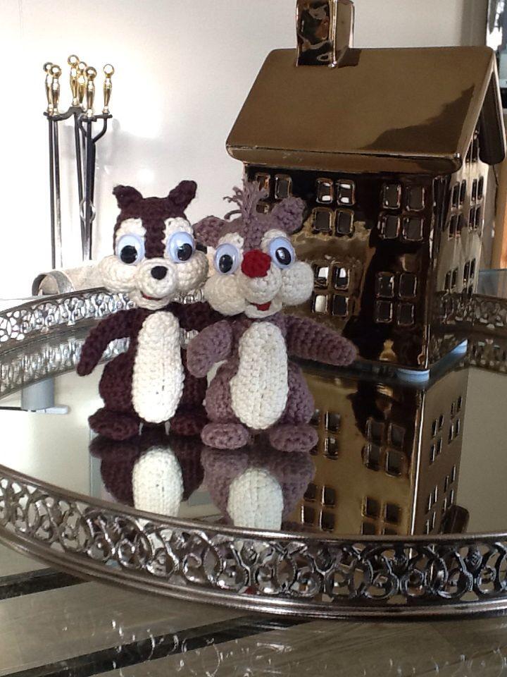 Hæklet Chip og Chap   Annie Iversen   Crochet, Knit ...