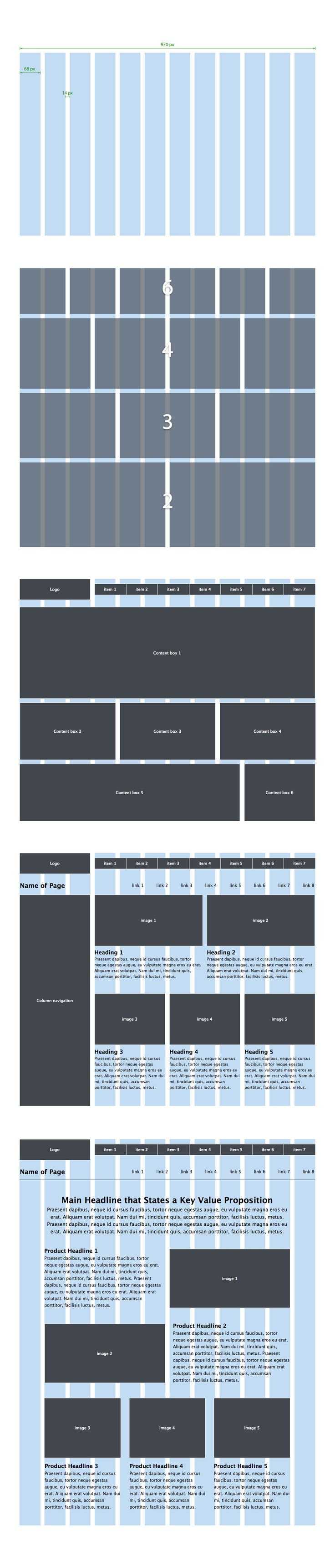 Wireframe Effectively on the New, Improved 970 Grid System *** Page layout is an important aspect of web design. A popular approach to designing page layouts is to use a grid system...