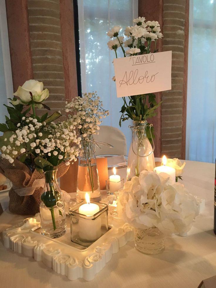 Matrimonio a tema Erbe Aromatiche - centrotavola Alloro