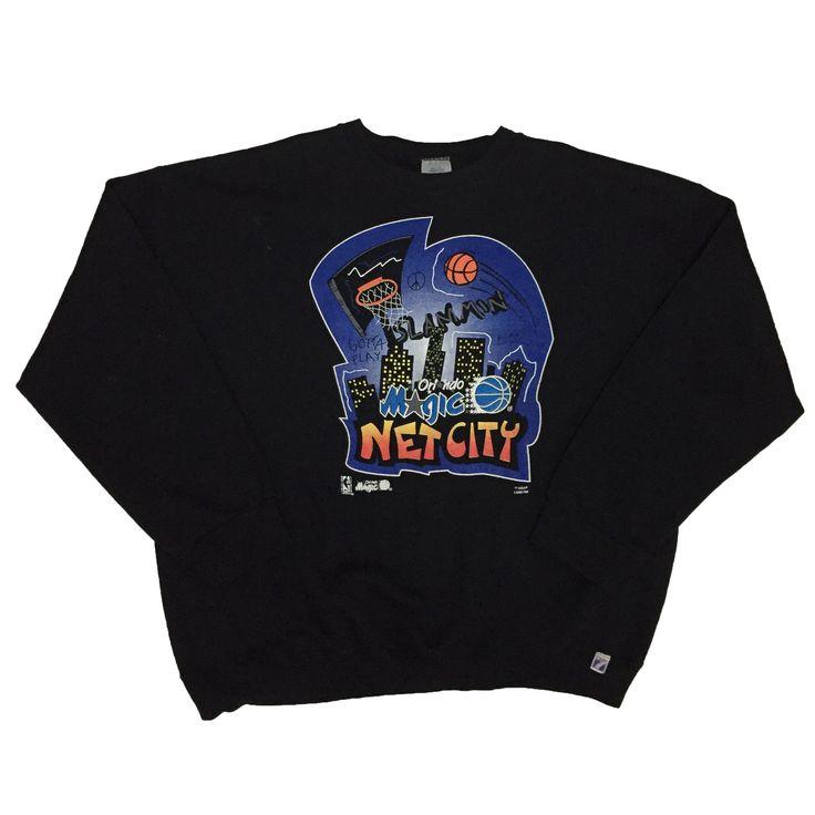 90s Orlando Magic Net City Sweater. XXXL.