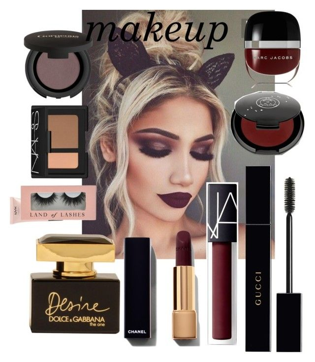 """""""Fall makeup"""" by ccfashionstreet on Polyvore featuring beauty, Marc Jacobs, Rituel de Fille, Gucci, NARS Cosmetics, Gorgeous Cosmetics, NYX, Dolce&Gabbana, Fall and contest"""