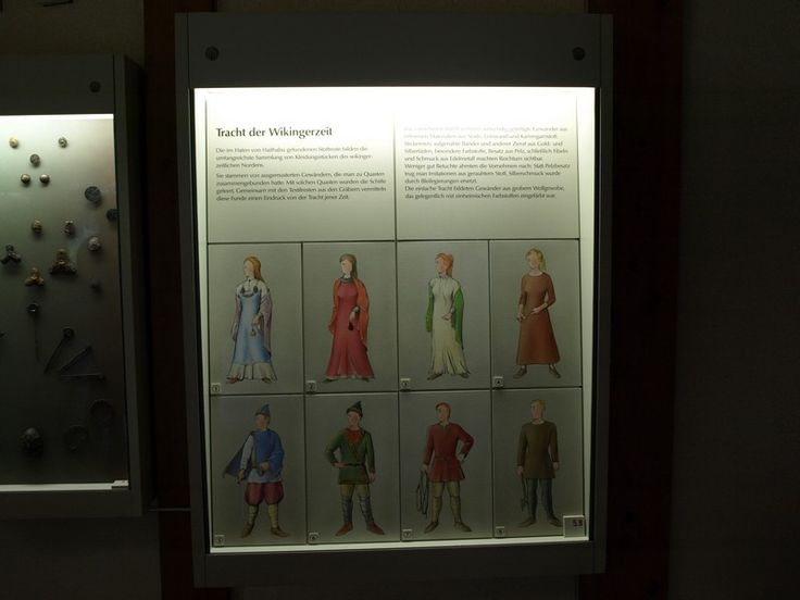 Drapery or costume of the Viking Age    Different types of drapery to Viking times depending on social status and wealth. - from Hedeby museum