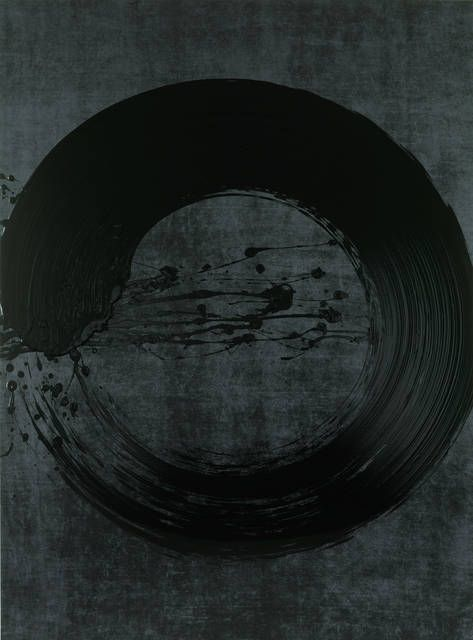 Fabienne Verdier Cercle Ascèse Noir, 2012 Ink, pigments and varnish on canvas 183 ×135 cm