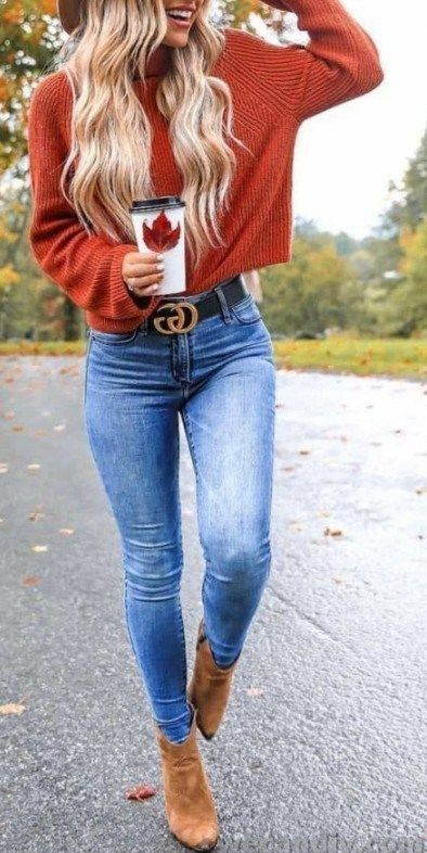 15 Cute Fall Outfits with Sweaters #outfitideas #f…