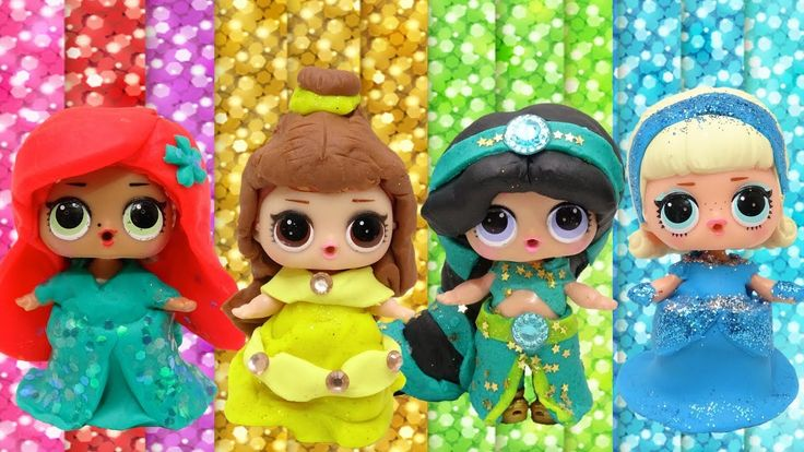 Spielen Sie Doh DIY LOL Überraschung Puppen Make-up Disney Princess Sparkle Kleider Ideen Lea …   – Womens Fashion