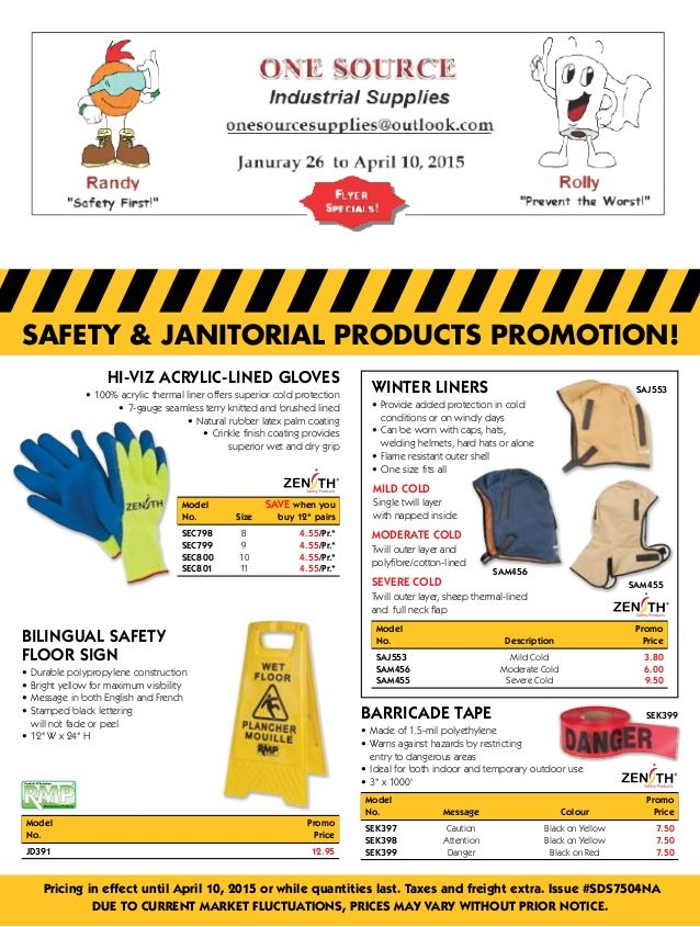 Safety Sales Flyer 16 page Jan 26 Apr 10 2015 PPE and