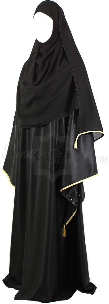 Gold Dust Closed Abaya by Sunnah Style #SunnahStyle #islamicclothing #abayastyle